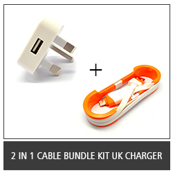 2 in 1 Cable Bundle Kit UK Charger