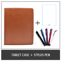 Tablet Case + Stylus Pen