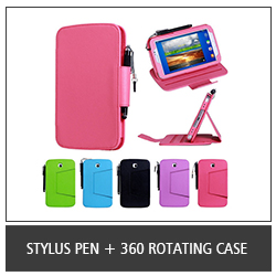 Stylus Pen + 360 Rotating Case