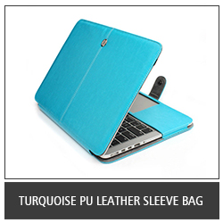 Turquoise PU Leather Sleeve Bag