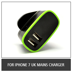 For iPhone 7 UK Mains Charger